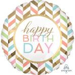 Happy Birthday Confetti Fun Jumbo Foil Balloons P40 - 5 PC