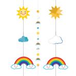 Sun/Rainbow/Clouds Balloon Fun Strings 1.82m - 6 PC