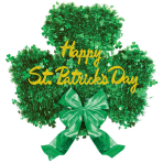 St. Patrick's Day Deluxe Tinsel Shamrock Decorations - 6 PC