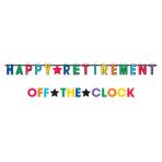 Happy Retirement Jumbo Letter Banners - 6 PKG/2