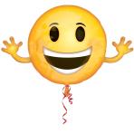 "Happy Birthday Emoticon Foil Supershape Balloons 39""/99cm x 23""/58cm P35 - 5 PC PC"