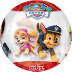 """Paw Patrol Chase & Marshall Clear Orbz Foil Balloons 15""""/38cm w x 16""""/40cm h G40 - 5 PC"""