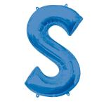 """Letter S Blue SuperShape Foil Balloons 34""""/""""86cm P50 - 5 PC"""