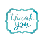 Robin's Egg Blue Thank You Stickers - 12 PKG/50