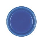 Navy Flag Blue Plastic Plates 18cm - 10 PKG/10