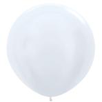 "Satin Solid White 405 Latex Balloons 36""/91.5cm - 2 PC"
