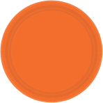 Orange Peel Paper Plates 23cm - 6 PKG/20