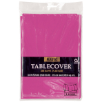 Magenta Round Tablecover  - Plastic-12 PC