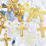 Rejoice Crosses Metallic Confetti 14g - 12 PKG