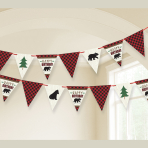 Little Lumberjack Pennant Banners 4.57m - 12 PC