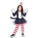 The Cat in the Hat Dress - Age 10-12 Years - 1 PC
