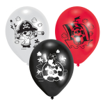 "Pirate Assorted Latex Balloons 11""/27.5cm - 10 PKG/6"