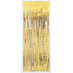 Gold Metallic Door Curtains 91cm x 2.43m - 6 PC