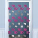 50th Birthday Door Curtains 2m - 6 PKG