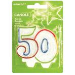 Milestone Candle Number 50 - 6 PKG