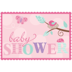 Tweet Baby Girl Invitations with Sticker Seals - 6 PKG/8