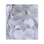 Silver & White Fabric Confetti Petals - 6 PKG/300