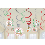 Winter Friends Swirl Foil Decorations - 12 PKG/12