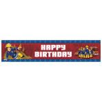 Fireman Sam Happy Birthday Holographic Banner 2.7m x 20cm - 10 PC