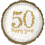 Sparkling Golden Anniversary Standard Foil Balloons S40 - 5 PC