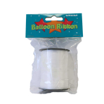 White Balloon Ribbons 25m x 5mm - 5 PC