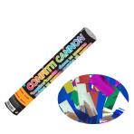 Multi Coloured Foil Confetti Cannons 30cm - 12 PC