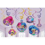 Shimmer & Shine Swirl Decorations - 6 PKG/12