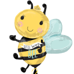 """What Will It Bee SuperShape XL Foil Balloons 25""""/63cm x 30""""/76cm P35 - 5 PC"""
