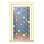 The Party Continues 18th Birthday Door Curtains 2m - 6 PKG