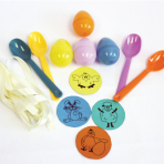 Easter Egg & Spoon Race Party Games - 6 PKG