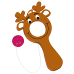 Christmas Reindeer Plastic Bulls-Eye Game - 6 PKG/12