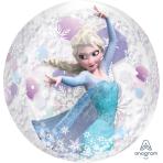 """Orbz Frozen Clear Foil Balloons 15""""/38cm w x 16""""/40cm h - G40 5PC"""