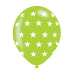 "Stars Assorted Colours Latex Balloons 11""/27.5cm - 10PKG/6"