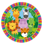 Jungle Friends Paper Plates 23cm - 6 PKG/8