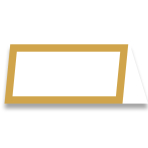 Gold Table Number Cards 10cm x 10cm x 2cm - 6 PKG/50