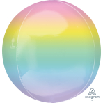 Ombre Pastel Orbz Packaged Foil Balloons G20 - 5 PC