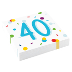 Confetti Birthday 40th Birthday Luncheon Napkins 33cm - 10 PKG/20