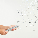 Silver Confetti Cannons 24cm - 12 PC