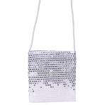 Silver Sequin Shoulder Bags - 6 PC