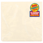 Vanilla Creme Dinner Napkins 40cm 2ply - 12 PKG/50