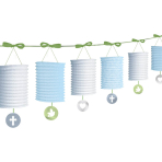 Blue Paper Lantern Garlands 3.65m - 6 PKG