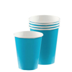 Caribbean Blue Paper Cups 266ml - 12 PKG/8