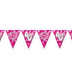 Happy 40th Birthday Flag Banner - 4m 10 PKG