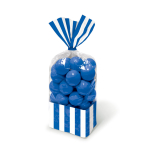 Royal Blue Candy Buffet Striped Party Bags - 24 PKG/10