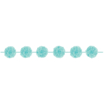 Robin's Egg Blue Fluffy Paper Garlands - 12 PKG/2
