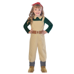 Landgirl Costume - Age 7-8 Years - 1 PC