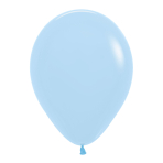 "Pastel Matte Solid Blue 640 Latex Balloons 12""/30cm - 50 PC"