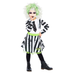Beetlejuice Costume Girls - Age 6-8 Years - 1 PC