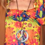 Hippie Peace Sign Necklaces - 10 PC