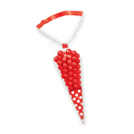 Apple Red Candy Buffet Cone Polka Dots Bags - 24 PKG/10